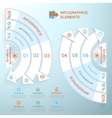 Business Infographics circle with arrows for vector image