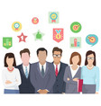 business team ready to work teamwork coworkers vector image