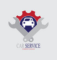 car service logo with two wrench vector image