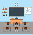 cartoon interior classroom school or university vector image