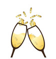 champagne glasses clinking for business talk vector image