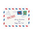 christmas envelope for letter to santa claus vector image vector image