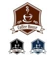 Coffee retro banner vector image vector image
