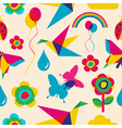 Colorful summer origami pattern vector image vector image