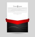 Concept wavy flyer design vector image vector image