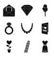 crown icons set simple style vector image