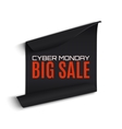 Cyber Monday sale curved paper banner vector image vector image