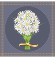Daisy flower bouquet on the greeting card