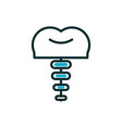 dental implant healthcare line icon fill vector image