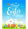 easter holiday poster vector image vector image