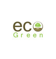 eco green leaf logo vector image vector image