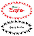 embroidery folk easter frames vector image