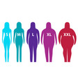 fat and slim woman figure vector image vector image