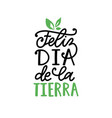 feliz dia de la tierra translated from spanish vector image