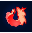 Fiery red cock Background vector image vector image