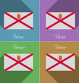 Flags Jersey Set of colors flat design and long vector image