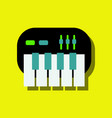 flat icon design collection children musical vector image vector image