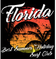 florida - concept in vintage graphic style vector image vector image
