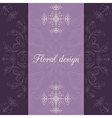 flower design card vector image vector image