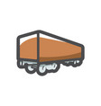 freight truck simple icon cartoon vector image