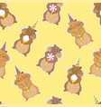 hamster party seamless pattern vector image vector image