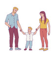 happy family with young couple vector image vector image