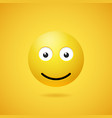 happy smiling emoticon with opened eyes and mouth vector image vector image