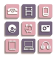 icons different vector image