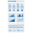 Infographics elements with schedules vector image vector image