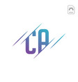 initial ac ca a c logo template vector image vector image