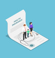 isometric family with kid and stethoscope vector image vector image