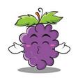 kissing closed eyes grape character cartoon vector image vector image