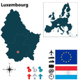Luxembourg and European Union map vector image vector image