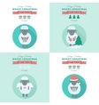 New Year cards with sheep in flat vector image vector image
