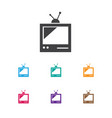 of travel symbol on television vector image vector image