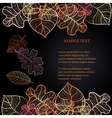Ornamental background with art autumn leaves on vector image vector image