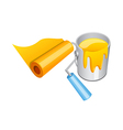 paint and roller vector image vector image