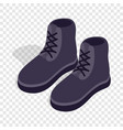 pair of male boots isometric icon vector image vector image