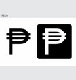 peso currency symbol vector image vector image