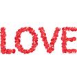 petals love vector image vector image