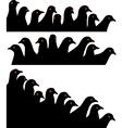 pigeon heads vector image vector image