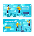 political meeting and presentation banners vector image vector image