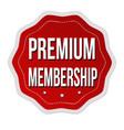 premium membership label or sticker vector image
