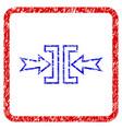 pressure horizontal grunge framed icon vector image vector image