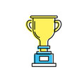prize symbol to winner champion vector image vector image