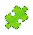 puzzle piece sign lemon scribble icon