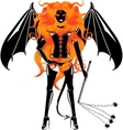 redhaired demon vector image vector image