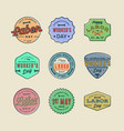 set labor day badges international workers day vector image