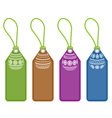 set of easter shopping tags with egg ornaments vector image vector image