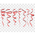 seven red festive ribbon for christmas birthday vector image vector image